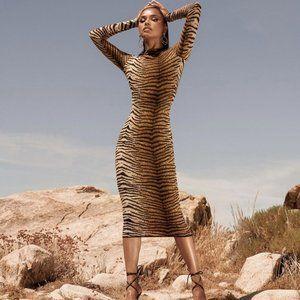 Tiger Stripe Midi Dress 🐆